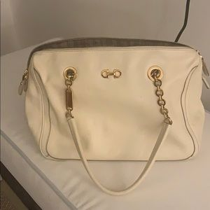 white salvatore ferragamo bag